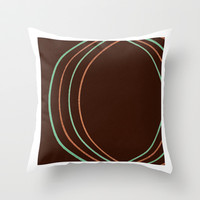 Round And Round Throw Pillow by Jensen Merrell Designs