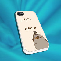 Pusheen The Cat For iPhone 4/4s,5/5s/5c, Samsung S3,S4,S2, iPod 4,5, HTC ONE