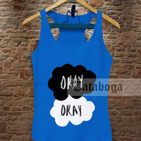 The Fault in our Stars royal blue Tank by tataboga