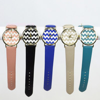 Ashville Black Chevron Watch