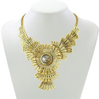 Hot Selling Enamel Fashion Mixed Style Chunky Statement Necklace Collar Crystal