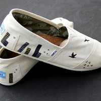City/Bird TOMS Custom Shoes for Men &amp; Women by ComptonsCreations