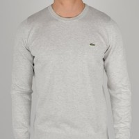 Lacoste Plain Crew Knit Sweatshirt AH8592 - Grey