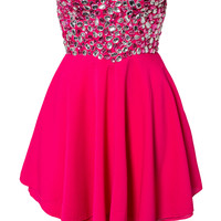 JEWELLED SWEETHEART DRESS