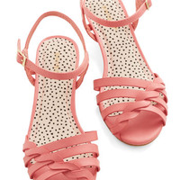 Better Plait than Never Sandal in Pink | Mod Retro Vintage Heels | ModCloth.com