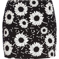 Black Chelsea Girl daisy print skirt