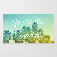 You - Me - Paradise Area & Throw Rug by Lisa Argyropoulos | Society6