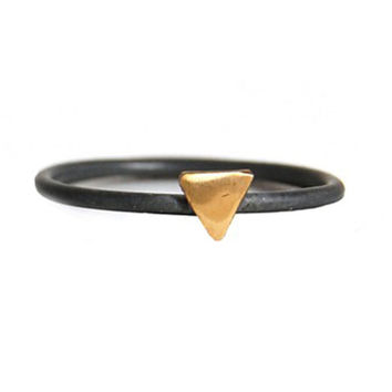 I liked this design on #Fab. Tiny Triangle Brass Oxidized