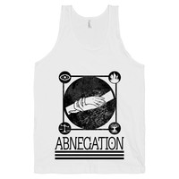 Abnegation on a White Tank Top