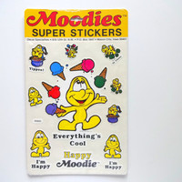 Vintage Moodies Super Stickers 1983