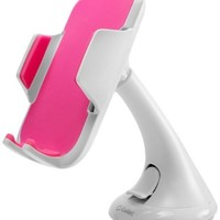 Cellet Car Windshield/Dashboard Universal Phone Holder for Smartphones - White/Pink