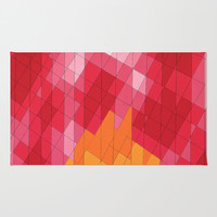 Rosey Abstract  Area & Throw Rug by DuckyB (Brandi)
