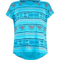 FULL TILT Aztec Girls Boxy Tee