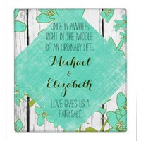 Rustic Wood and Floral with Quote Wedding Album