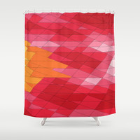 Rosey Abstract  Shower Curtain by DuckyB (Brandi)