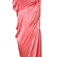 LANVIN | Draped Silk-satin Dress | Browns fashion & designer clothes & clothing