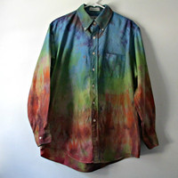 The Prospect Bob. Tie Dye Unisex Button Down by LarkinAndLarkin