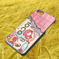 bessette strawberry choco iphone 4 4s 5 5s 5c galaxy s3 s4 hard case rubber cover plastic