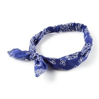 Blue Cutout Floral Design Headwrap | Claire's