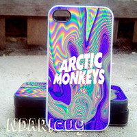 arctic monkey spectrum color - iPhone 4/4s/5/5c/5s Case - Samsung Galaxy S2/S3/S4 Case- Blackberry z10 Case- iPod 4/5 Case - Black or White