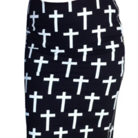 Cross Double Zip Skirt