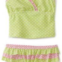 Hartstrings Girls 2-6X Two Piece Ruffled Swim Suit