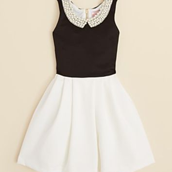 Zoe Girls' Pearl Collar Party Dress - Sizes 7-16