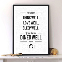 One cannot Think Well - Virginia Woolf Modern Typography Print Poster
