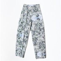 marble print cotton trouser