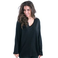 Hue Sleepwear Women V-Neck Sleep Long Sleep Tee - Plus Size