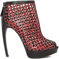 Laser Cut Armadillo Peep Toe Boot Alexander McQueen | Boots | Shoes |