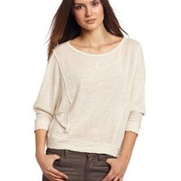 Chaser Women&#x27;s Long Sleeve Raw Edge Dolman Tee