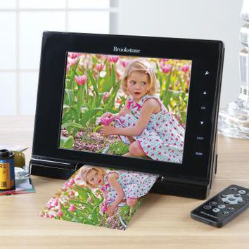 Digital Picture Frame with Built in Photo Scanner at Brookstone $150