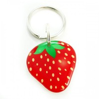 Strawberry Pet ID Tag Customized Personalized Double Sided Designer...... | metamorphdesigns - Pets on ArtFire
