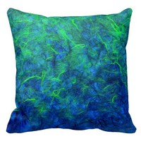 Neon blue green psychedelic Japanese rice paper