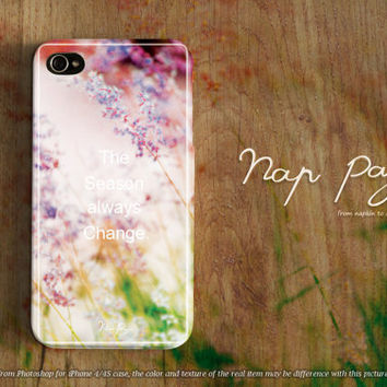 Apple iphone case for iphone iphone 5 iphone 5s iphone 5c iphone 4 iphone 4s iPhone 3Gs : soft flower and grass in Spring