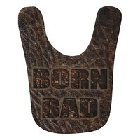Born Bad unusual look as genuine leather baby bib
