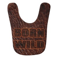 Born Wild unusual look as genuine leather baby bib