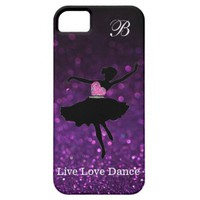 Monogram, Live Love Dance Glitter iPhone 5/5S Case