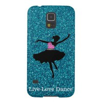Live Love Dance Glitter Samsung Galaxy S5 Case