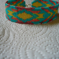 Square Stitched South Western/Tribal bracelet
