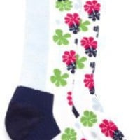 Hot Chillys Girls' Flower Med Sock