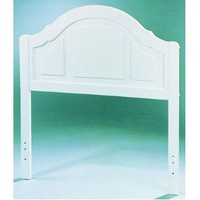 Kid's White Finish Twin Size Panel Headboard