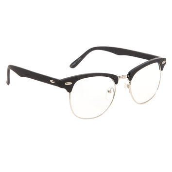 Black Wire Clear Lens Glasses