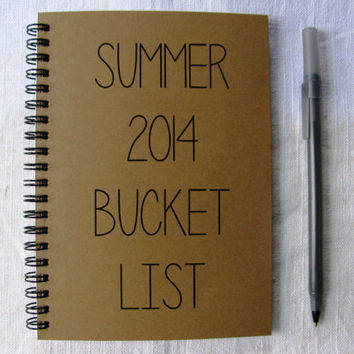 Summer 2014 Bucket List - 5 x 7 journal