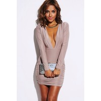 Mocha All Eyes On You Dress