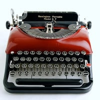 Red Typewriter Remington 5T Streamline