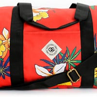 Obey Journey Tropic High Red Duffle Bag