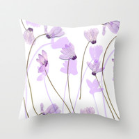 Flowering #7 Throw Pillow by Ornaart