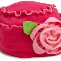 Love U Lots Girls 2-6X Polar Hat With Flower Trim